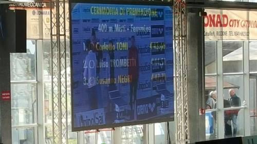 Carlotta Toni: che impresa! Oro nei 400 Mx agli Open di Riccione