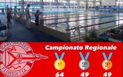 CON 162 MEDAGLIE, LA FLORENTIA SI CONFERMA REGINA TOSCANA AI CAMPIONATI REGIONALI